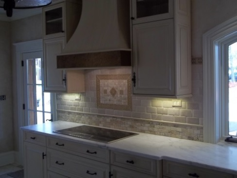 """ White Tile - Brightens up a Kitchen"""